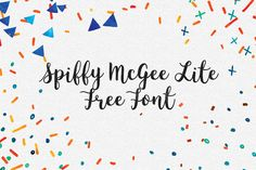 DLOLLEYS HELP: Spiffy McGee – Free Demo Font