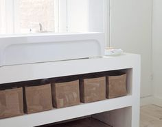 Design Minna Ahokas Box Zone containers offers many ways to store goods both in the home and at office. Available in six sizes. Thing 1, Apartment Furniture, Storage Baskets, Container, Interiors, Box, Table, Accessories, Design