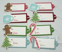 Stampin Up Gift Tags | Stampin' Up! Stamping T! - Xmas Tags