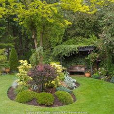 kidney shaped garden