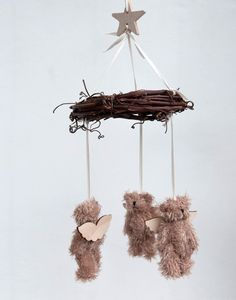 bear mobile by pilosale on Etsy, $60.00 ... I think I could make this!! I'm going to try!