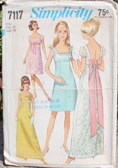 Vintage 1967 Simplicity 7117 Sewing Pattern