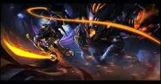 Master Yi and Malphite Lol League Of Legends, Death Note, Game Character, Character Design, Supernatural, Naruto, Indie, Robot Concept Art, Hyperrealism
