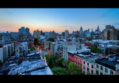St. Marks Place at Sunset    Of course, I am always looking out for great private rooftops or unique public locations and if anyone knows of any please contact me via flickrmail or rbudhuphotos [at] gmail.com.    © Ryan D, Budhu  ALL RIGHTS RESERVED