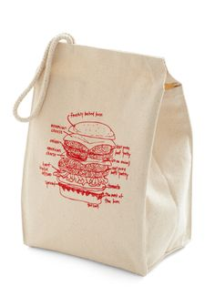 Lead the Pack Lunch Bag in Burger | Mod Retro Vintage Kitchen | ModCloth.com