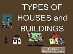 Presentación muy completa sobre tipos de casas, y su ubicación, explicada por escrito. La he seleccionado como actividad final y de ampliación, ya que a partir de la diapositiva 51 se pone más específico: puertas, ventanas, techos.