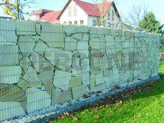7 Wonderful Useful Ideas: Backyard Pool Fence backyard fence landscaping.Picket Fence How To Make short concrete fence.Fence For Back Yard. Gabion Fence, Gabion Wall, Concrete Fence, Brick Fence, Bamboo Fence, Front Yard Fence, Farm Fence, Fence Gate, Fence Panels