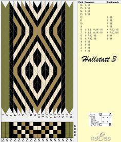 <p>Brikkevev mønster Hallstatt III Farger og treing av kantbrikker er ikke nødvendigvis historisk korrekt.</p>
