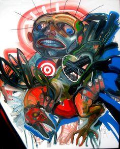 El profeta. óleo sobre tela 150 x 120 cm. 2006.