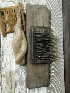 flax hackel | 214 Hatchel Hetchel Flax Comb Antique Primitive 1800s Handmade ...