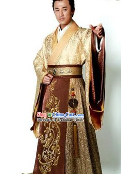 Ancient Chinese Emperor Hanfu Robe for Men Akron #2744 - $360.00 THIS IS IT - PERFECT FOR KEN!