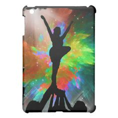 Colorburst Background with Cheerleraders Case For The iPad Mini