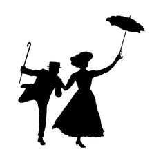 Mary Poppins Silhouette, Mary Poppins Buch, Broadway Tattoos, Mary Poppins Quotes, Silhouette Cameo Freebies, Memory Crafts, Cricut Explore Air, Disney Scrapbook, Pop Up Cards