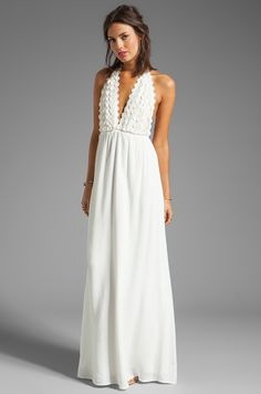 For Love & Lemons Camillia Maxi Dress in Ivory