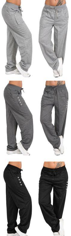 7282d14f482d2d Hot Sale!Casual High Waist Oversized Loose Leggings Sports Pants