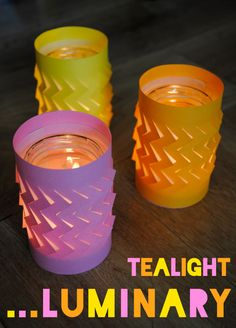 Tea-light luminaries
