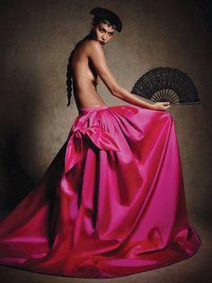 'Dona Bonita' Joan Smalls for Vogue Germany January 2014