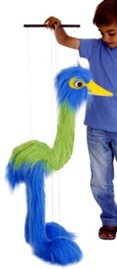 PuppetU.com - Blue Bird Marionette String Puppet, $32.99 (http://store.puppetu.com/blue-bird-marionette-string-puppet/)