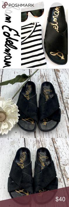 """💕SALE💕Sam Edelman """"Adora"""" Black Sandals Fabulous 💕Sam Edelman """"Adora"""" Black Calf Hair Sandals Sam Edelman Shoes Sandals"""