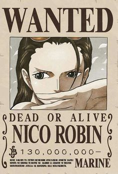 Poster One Piece Wanted Robin One Piece Manga, One Piece Figure, Zoro One Piece, One Piece 1, Missing Piece, Single Piece, Nico Robin, Otaku Anime, Anime Echii