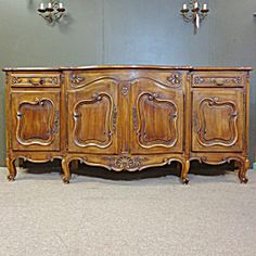 French Antique Provencal Walnut Buffet