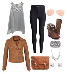 """""""Fall outfit"""" by shannon-george ❤ liked on Polyvore featuring Copper Key, H&M, Miss Selfridge, Mark Broumand, Givenchy and Ray-Ban"""