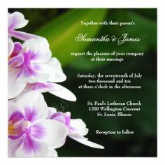Lovely Orchid Wedding Invitation