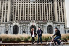 Downtown Detroit Engagement Location Ideas! Old train station, Z Garage, Wright & Co and more up on the blog...