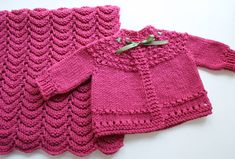 """Project Linus Security Blanket and Quickie (""""5-Hour"""") Baby Sweater patterns from Knitting for Peace by Betty Christiansen"""