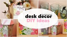 Some DIY ideas for your desk :) Hope you will like it!