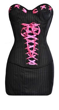 hot correset and matching skirt!