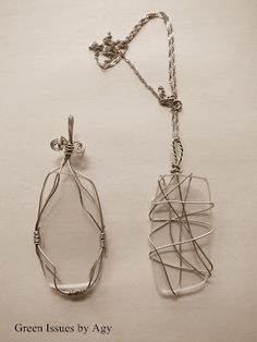 Broke your glasses or found an odd lens? Wire it into a beautiful pendant.