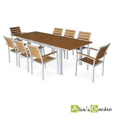 Concept Usine Siderno 6 : Salon de jardin en aluminium et polywood ...