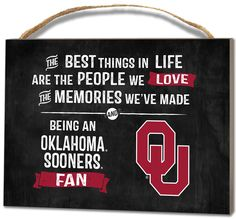 Oklahoma Sooners Small Plaque - Best Things