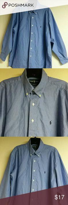 Men's  Ralph Lauren Long Sleeve Shirt Men's  Ralph Lauren Long Sleeve Shirt  100%- Pinpoint Oxford /Classy/Cool Comfortable /In excellent condition / 161/2 - 32-33 In Size /Polo Logo/ Ralph Lauren Shirts Polos