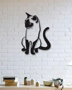 Kedi Metal Tablo - Cat