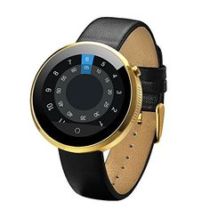 Luxsure Waterproof Bluetooth Smart Watch Heart Rate Monitor Smartwatch Finger Gestures Voice Control Wirst Watch for IOS Apple iPhone and Android Smartphone Gold >>> You can get more details by clicking on the image.