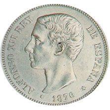 05 Pesetas. (1875)(*18-75) Madrid DE M - MBC