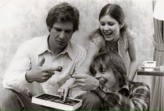 Harrison Ford, Carrie Fisher y Mark Hamill. Tan jóvenes...