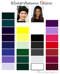 Deep Winter color palette- possibly Joe, Lizzy and both Davids