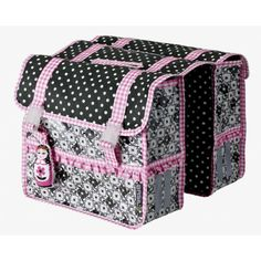 Basil bike pannier bags - so cute! I want this for my bicycle! Kids Bike Accessories, Bicycle Panniers, Bike Bag, Cycle Chic, Diaper Bag, Basil, Retro, Grey, Pink
