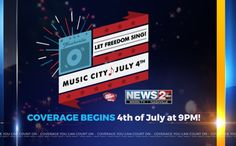 """""""Let Freedom Sing!"""" will feature the largest fireworks display in the country, synchronized with a liveperformance by the Nashville Symphony."""