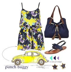 """Punch Buggy"" by astylemave ❤ liked on Polyvore featuring River Island, Joie, Marc by Marc Jacobs, Liz Claiborne and denim"