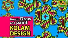 How to draw and paint KOLAM DESIGN 03   STEP BY STEP   TADA-DADA Art Club