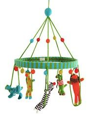 oh my gosh...Blabla knitted jungle mobile