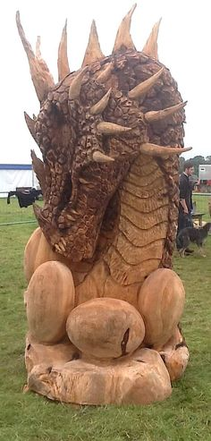 WEST Somerset chainsaw artist Matthew Crabb carved another notch in his successful career when he pitted his skills against the best in the world. Dragon Egg, Baby Dragon, Fantasy Dragon, Fantasy Art, Dragons, Dragon Dreaming, Dragon Artwork, Celtic Dragon, Tree Carving