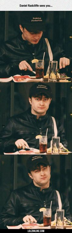 Daniel Radcliffe Sees You...#funny #lol #lolzonline
