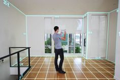 Use an augmented reality sensor to measure your home. Measure every room in your house with this easy DIY mobile app that works with an augmented reality sensor designed specifically for home improvement projects. Visit PG&E's Energy Trends to learn more about this new innovation.