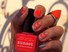 piCture pOlish 'Sunset' mani art by The Quiche Girl!  Buy on-line now:  www.picturepolish.com.au