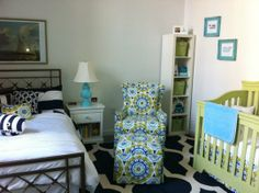 shared nursery @Sarah Chintomby Arnott I thought of you and having to share space with your soon-to-be foster babes! =)